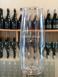Govino Flute Glass (Stoneboat Labelled)